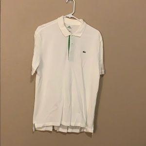 White Lacoste Medium Polo
